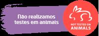 Não realizamos testes em animais